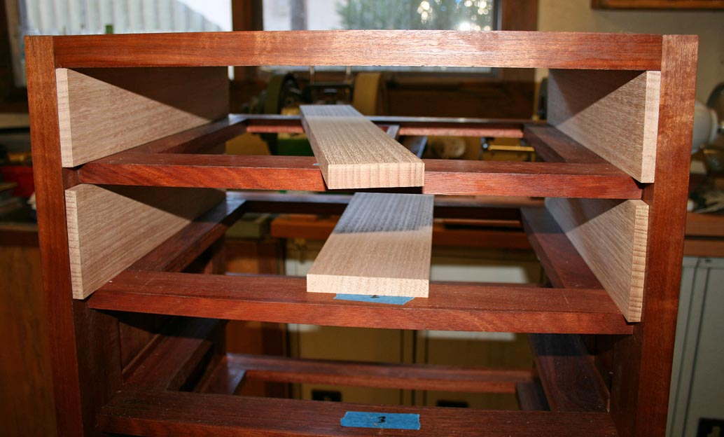 The Outer Line Comes From The Template For Drawer #8. It Will Be Used For  All The Drawers To Ensure That The Outer Curve Is Consistent Through The  Drawers.